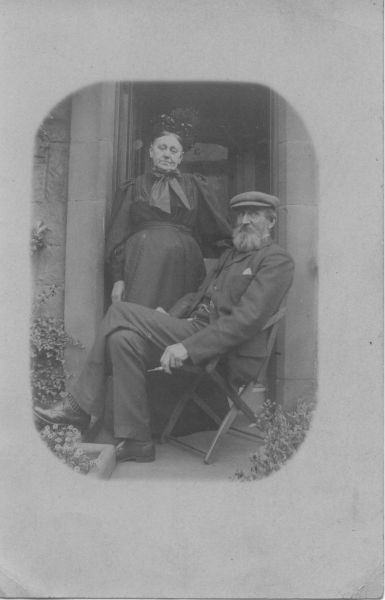 Couple In Doorway To Their House c.1910