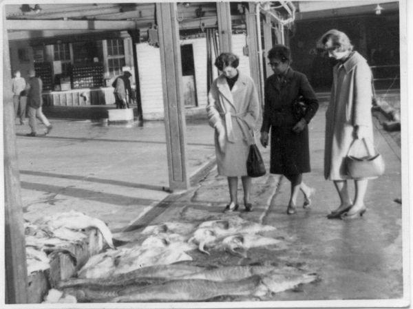 Three Women At Peterhead Fishmarket c.1967