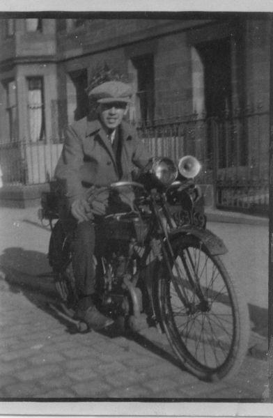 Man on motorcycle c.1920