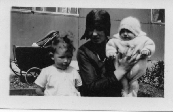 Mother With Her Two Girls 1930