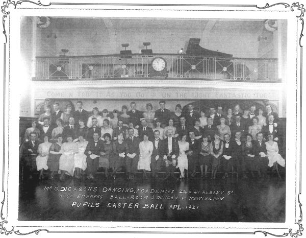 G Dickson's Dancing Academy Pupils Easter Ball, April 1921