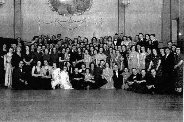 J&J Gray Printers Staff Dance At St Bernard's Hall 1940s