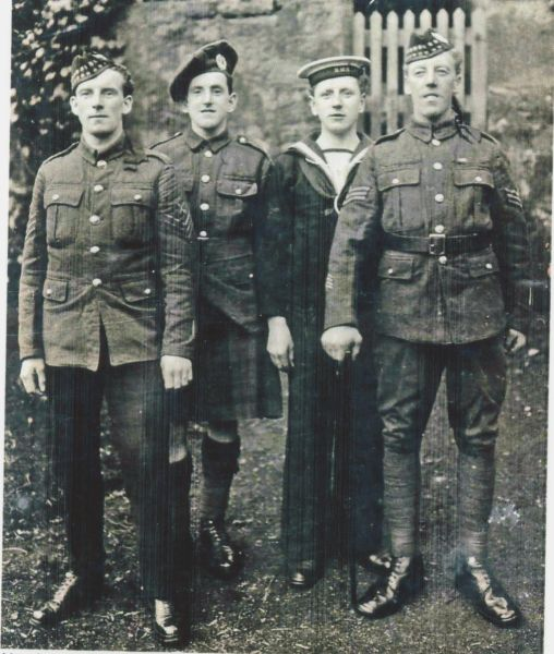 Four Servicemen Of The Same Family c.1914