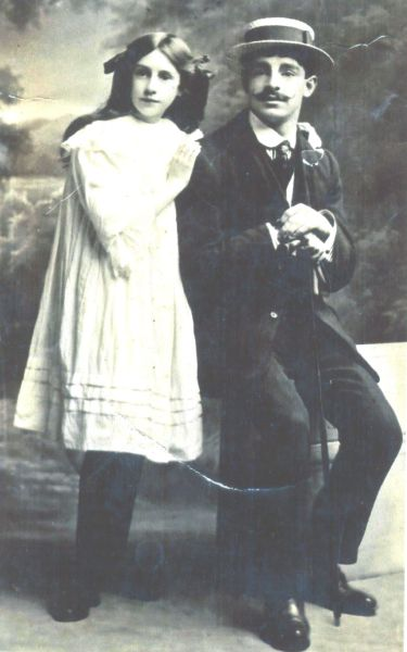 Studio Portrait Brother And Sister c.1900