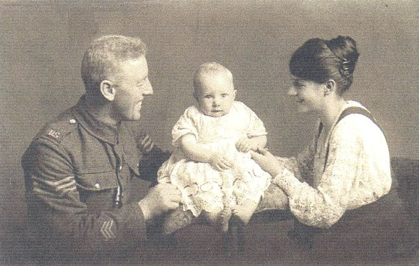 Studio Portrait Young Soldier And Family c.1915