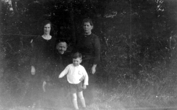 Young Boy With His Mother, Grandmother, And Great Grandmother c.1924