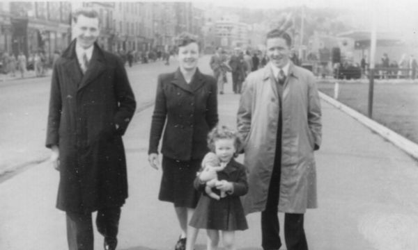 Family Out For Walk In Victoria Street, Rothesay 1948