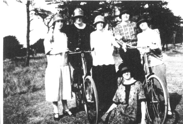 Friends On An Outing With Bicycles c.1928