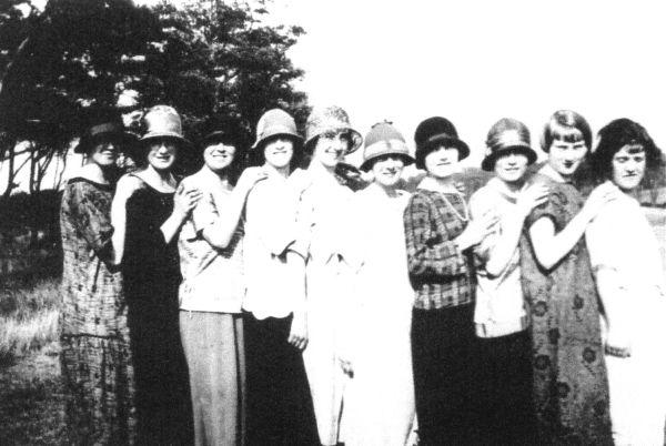 Line Of Women Wearing Hats c.1928
