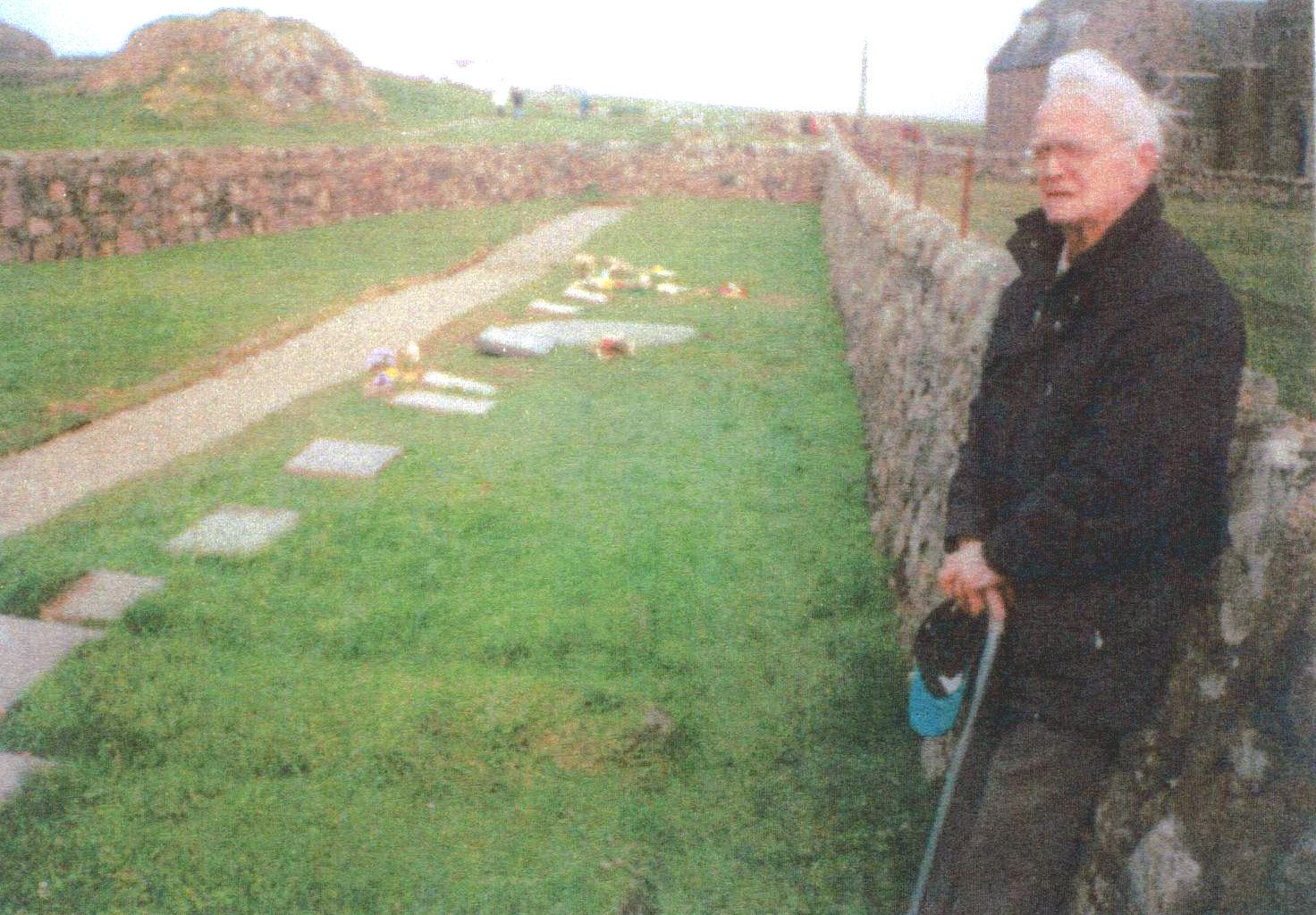 Visiting The Grave Of John Smith At St Oran's Cemetery On Iona 2000