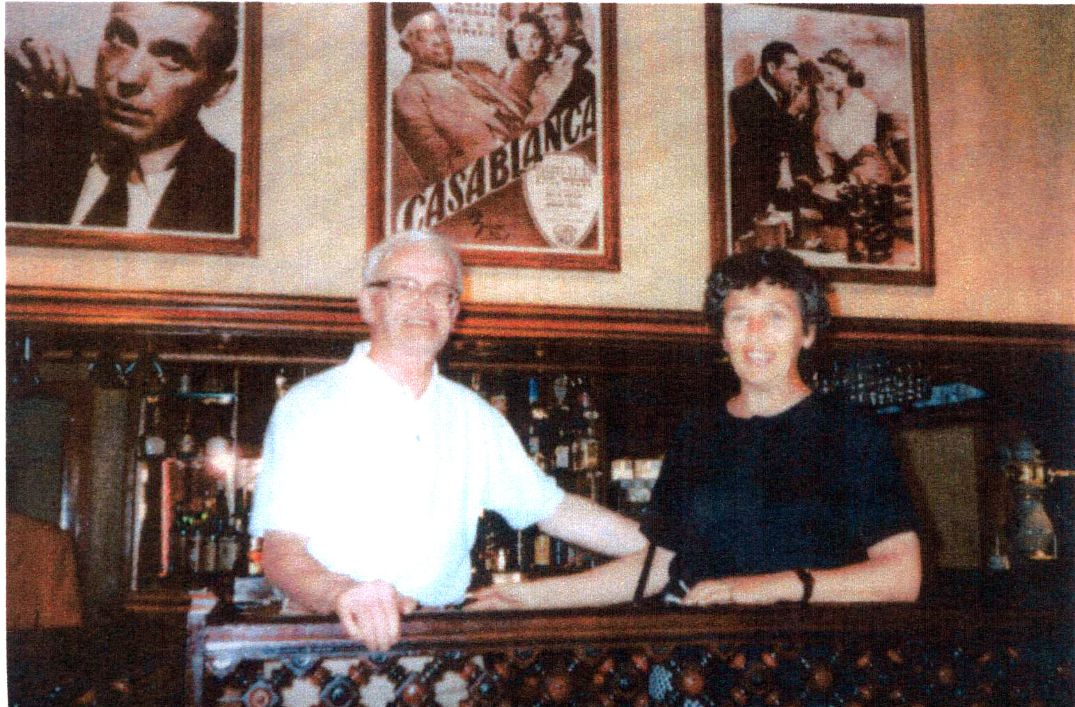 Husband And Wife Visiting Restaurant In Casablanca 1992