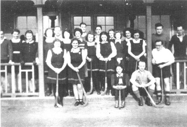 Female And Male Players Of Portobello FP Hockey Club c.1933