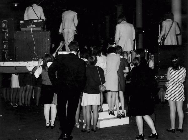 Backstage At Waverley Market Concert, late 1960s
