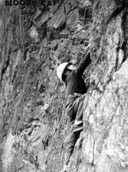 Boy Climbing Rock Face, early 1980s