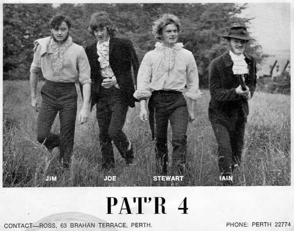 Publicity Shot For Local Band 'PAT'R 4', early 1970s