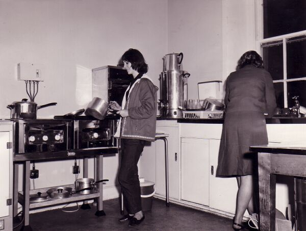 Cooking In Kitchen Of Gracemount Community Centre, late 1960s