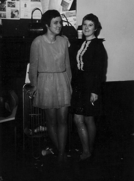 Two Girls In Conversation At Gracemount Community Centre Social Event, late 1960s