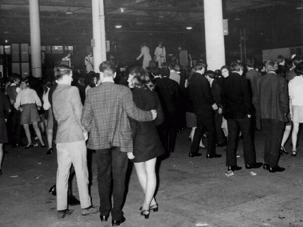 Young Adults Attending Gig At Waverley Market, late 1960s
