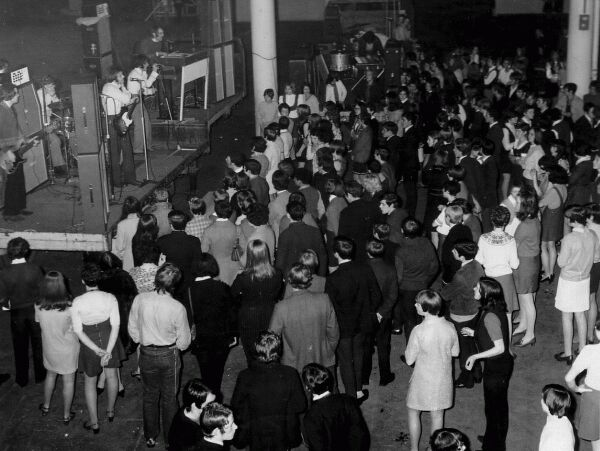 Live Music Concert At Waverley Market, late 1960s