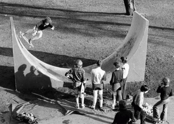 Skateboarding In The Park, early 1980s