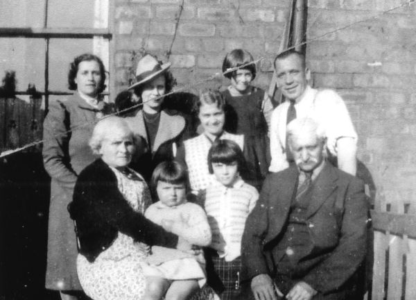 Family Gathered Outside Home At Dean Park In Newtongrange 1950s