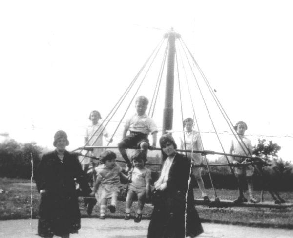 Children Playing On Merry-Go-Round At Newtongrange 1930s