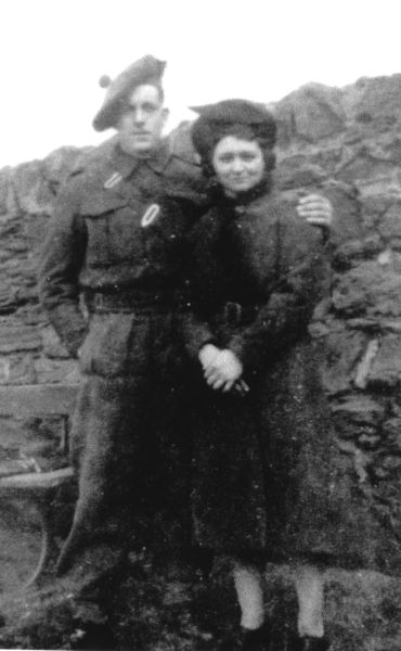 Young Couple Standing By Wall c.1945