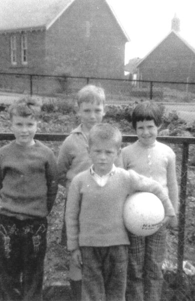 Group Of Children At Play In Lingerwood Road, Newtongrange, early 1960s