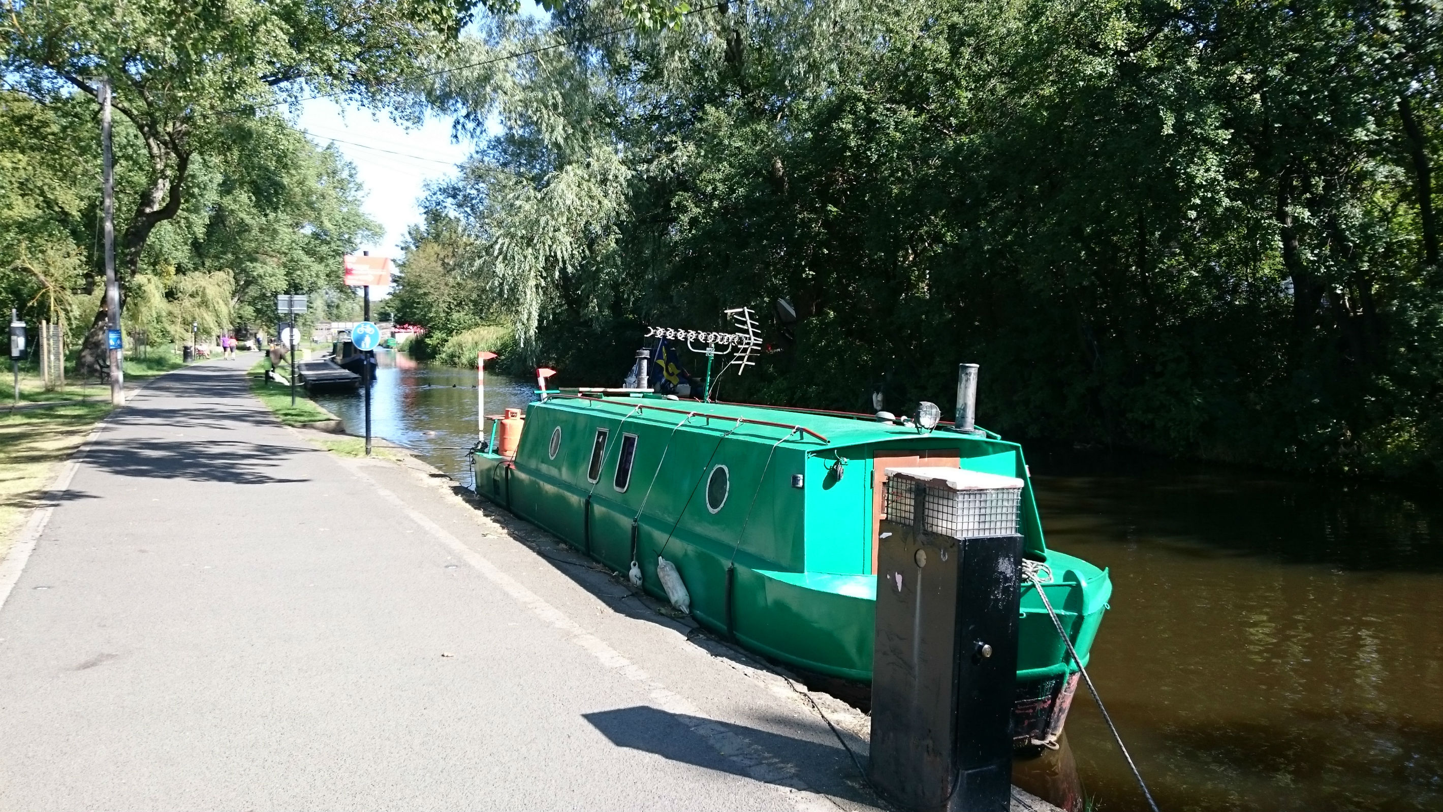 Union Canal - moored barge