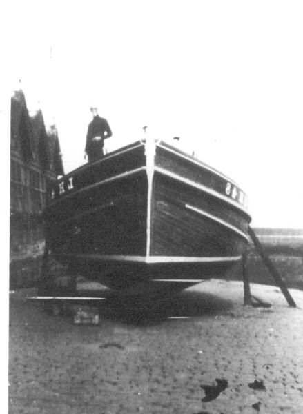 """Fishing Boat """"Endeavour"""" At Newhaven 1930"""