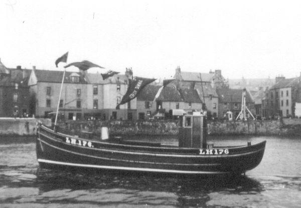 """The Trawler """"Ocean Gift"""" In St Monans Harbour 1937"""