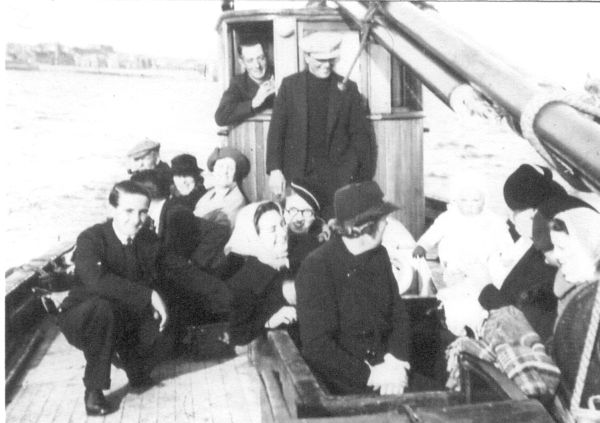 Family And Friends Off Newhaven Aboard The Trawler 'Ocean's Gift' 1938