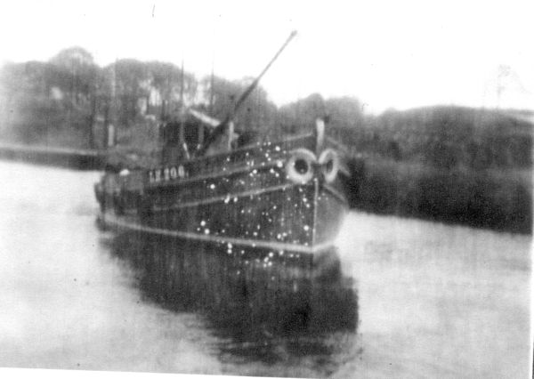 Trawler 'Ocean's Gift II' Cutting Through Canal 1930s