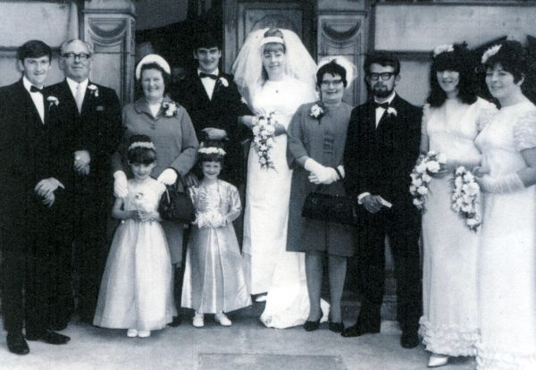 Newly-Weds And Family Outside St Columba's Church, 29 June 1968