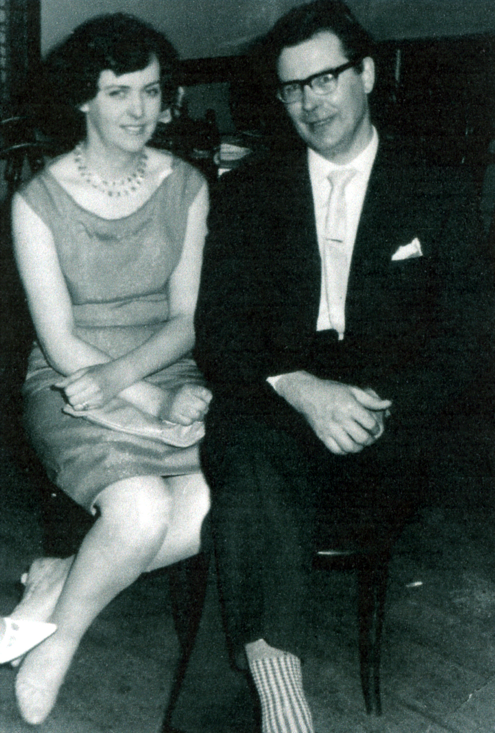 Couple At The Tile Fixers Dance At Westfield Halls, Winter 1964
