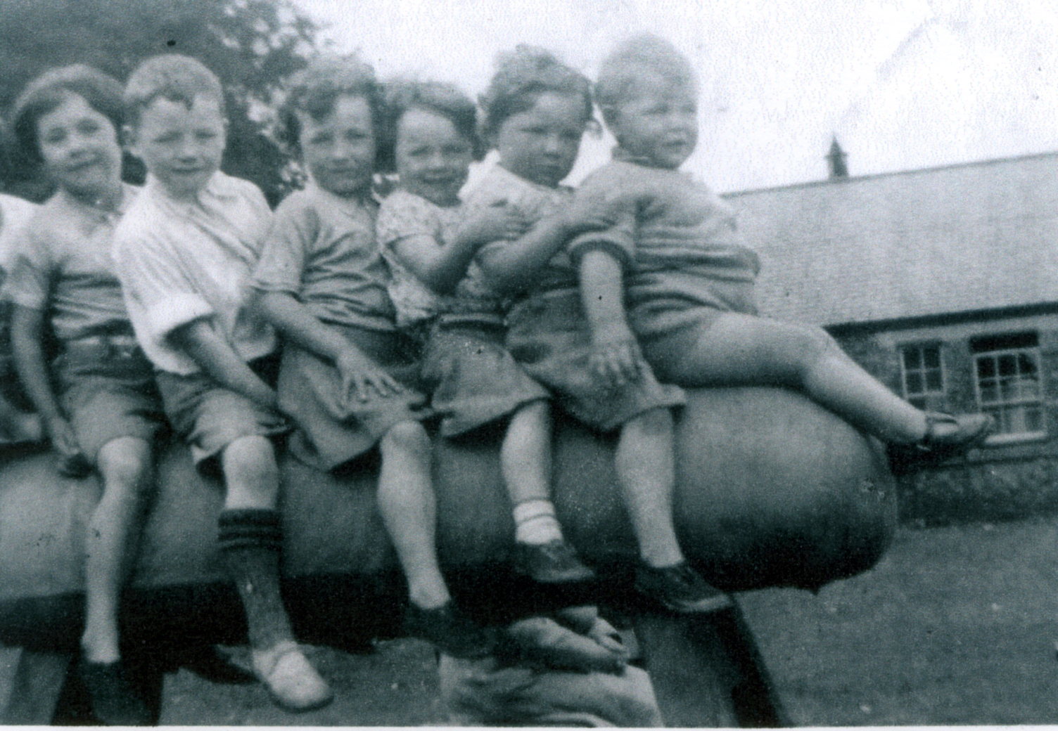 Children Playing On Gym Horse At St Saviour's Nursery 1937