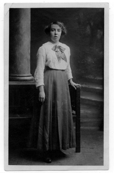 Studio Portrait Young Woman 1920s