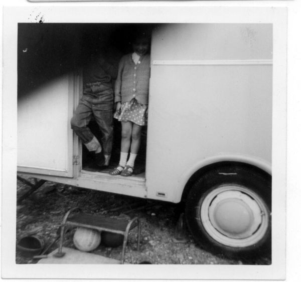 Brother And Sister On Caravan Holiday In North Berwick 1967