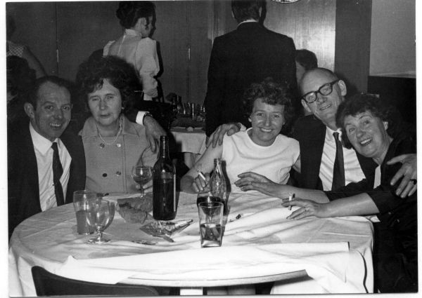 Having Drinks Round Table Unknown Occasion c.1975