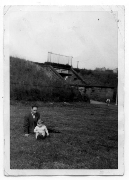 Uncle With Nephew Sitting In Pilrig Park c.1960