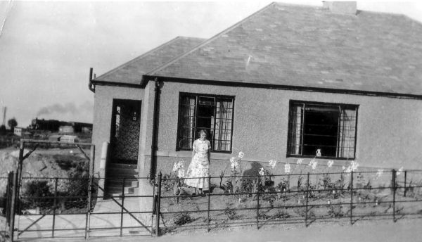 Woman Standing In The Garden Of Her New Home At Kingsknowe Crescent 1937