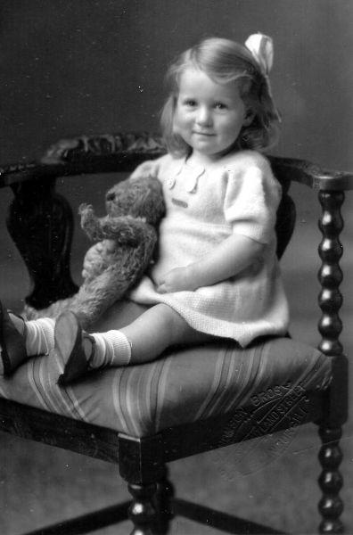Studio Portrait Young Girl, 21 Sept 1940