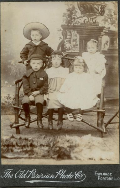 Studio Family Portrait Children c.1904