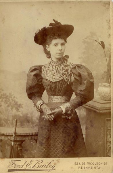 Studio Portrait Young Victorian Woman 1895