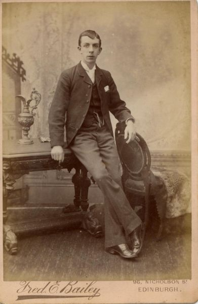 Studio Portrait Smartly Dressed Young Man 1895