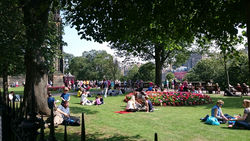 Princes Street Gardens during the Festival