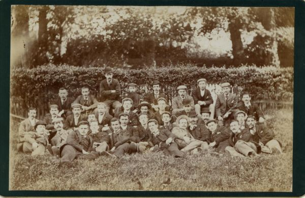 Workers Day Out From Ballantyne's The Printers c.1900