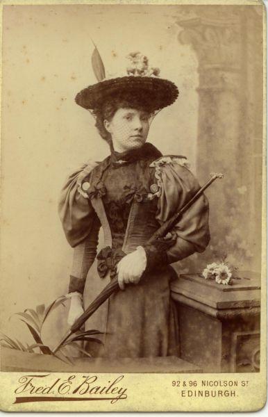 Studio Portrait Young Woman c.1900