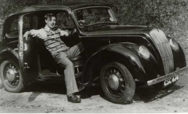 Young Man Reclining In Driving Seat Of Car c.1947