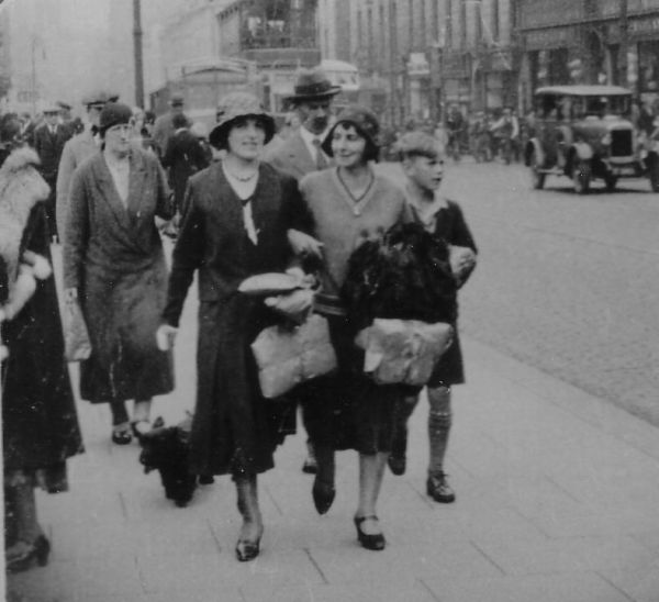 Family Out Shopping In Union Street, Aberdeen, early 1930s